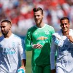 Carvajal, De Gea y Lucas Vázquez en el debut madridista 2017 ante el Manchester United