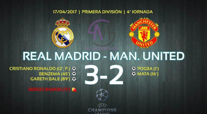Resumen Real Madrid-Manchester United, Liga