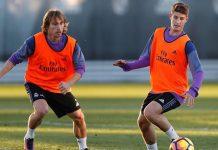 Miguel Baeza y Luka Modric