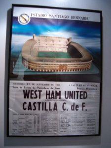 Cartel anunciador del Castilla - West Ham, Recopa de Europa 1980-81