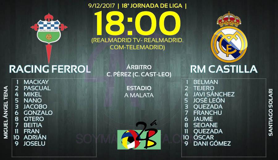Racing de Ferrol Castilla onces