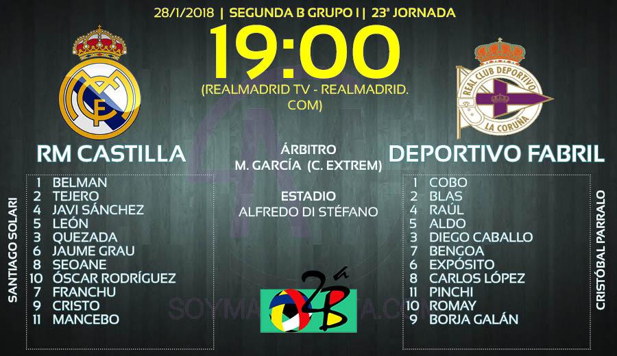 Ficha Previa Castilla Deportivo